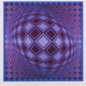 Victor Vasarely, Farbserigrafie.  Signiert und nummeriert.