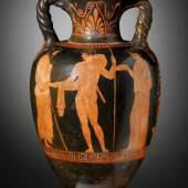 A Red-figure Neck-amphora with Twisted Handles, Attributed to the Dinos Painter, Cahn International