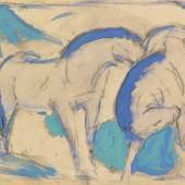 € 775.000 € 190.000 Franz Marc Zwei Pferde, blaugrün