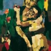 Oskar Kokoschka (1886 - 1980) Oskar Kokoschka  Mutter mit Kind, sich umarmend, 1922 © Fondation Oskar Kokoschka/VBK, Wien 2010 Öl auf Leinwand  121 x 81 cm Belvedere, Wien