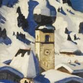715 ALFONS WALDE Aurach bei Kitzbühel, 1926/1928. Öl auf Malpappe Schätzung: € 200.000 Ergebnis: € 525.000