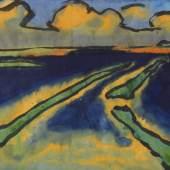 118000374 EMIL NOLDE Marschlandschaft, Ca. 1920/1925. Aquarell Schätzpreis: € 120.000 - 150.000