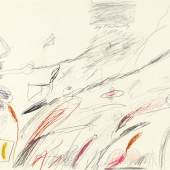 118002636 CY TWOMBLY Untitled (Notes from a Tower), 1961. Bleistiftzeichnung Schätzpreis: € 180.000 - 240.000