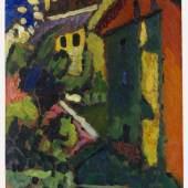 118002812 WASSILY KANDINSKY Treppe zum Schloss (Murnau), 1909. Öl Schätzpreis: € 1.500.000 - 2.500.000