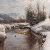 79 PEDER (PEDER MØRK MØNSTED) MÖNSTED Wintersonne im Engadin, 1914. Öl auf Leinwand Schätzpreis: € 40.000 - 60.000