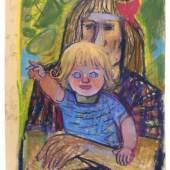 """533   Otto Dix """"Mutter und Kind"""". 1952.  Otto Dix 1891 Untermhaus/Gera – 1969 Singen am Hohentwiel  12.000-15.000 €"""