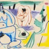 119 PABLO PICASSO Les Déjeuners, 1961. Kreidezeichnung Schätzpreis: € 300.000 - 400.000