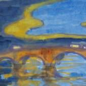 450 EMIL NOLDE Brücke über die Elbe (Augustusbrücke in Dresden), 1925/1930. Aquarell Schätzpreis: € 40.000 - 60.000
