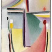 ALEXEJ VON JAWLENSKY Abstrakter Kopf, Um 1921. Öl auf Leinwand Schätzpreis: € 180.000 - 240.000
