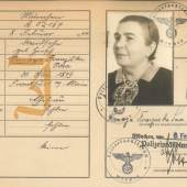 Kennkarten-Duplikat von Simone (Semaya Franziska) Davidsohn, Februar 1939 Stadtarchiv München, KKD-573 © Stadtarchiv München