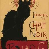 Théophile Alexandre Steinlen: Tournée du chat noir, 1896. Lithographie, 139 x 96,5 cm. Staatliche Mu Kunstbibliothek