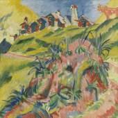 Ernst Ludwig Kirchner Bergdorf mit rosa Kuh Öl auf Leinwand, 1919/1920 70x80cm / 27.5x31.4inches € 300.000-400.000