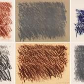 225 CY TWOMBLY Untitled (6 Blätter), 1971. Lithografien Schätzung: € 300.000 Ergebnis: € 575.000