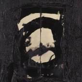120003292 Emil Schumacher Aka I, 1965. Öl und Leinwandfragmente, auf Leinwand collagiert Schätzpreis: € 30.000 - 40.000