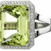271 CHF 3500.–Ausruf: Goldberyll-Diamant-Ring