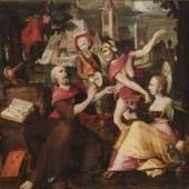Bosch, Hieronymus, Nachfolge (2. Hälfte 16. Jh.),  Die Versuchung des Hl. Antonius, Mindestpreis:4.000 EUR