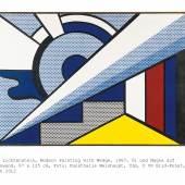 Roy Lichtenstein, Modern Painting with Wedge, 1967