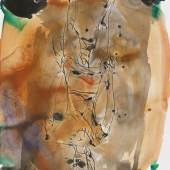 121000252 Georg Baselitz Ohne Titel, 1998. Aquarell und Tuschfederzeichnung Schätzpreis: € 35.000 - 45.000
