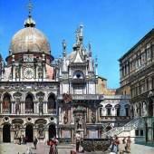 Frederico del Campo (1837 - 1923), Der Innenhof des Palazzo Ducale in Venedig, 1888, Öl auf Leinwand, 95 x 59,5 cm, Schätzwert € 80.000 - 120.000  Fotonachweis: Dorotheum