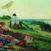 Vasili Andreyevich Golynsky (1854 - 1904) Ein heißer Sommertag, Öl/Leinwand, 70,5 x 108 cm Schätzwert € 100.000 - 140.000 Fotonachweis: Dorotheum