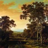 Joris van der Haagen (1615 - 1669) Eine bewaldete Landschaft, Öl/Leinwand, 151 x 140 cm, Schätzwert € 350.000 - 450.000 Fotonachweis: Dorotheum