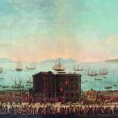 Antonio Joli (1700 - 1777) Der Königliche Festzug nach Piedigrotta, Neapel, Öl/Leinwand, 71 x 255 cm, Schätzwert € 200.000 - 300.000 Fotonachweis: Dorotheum