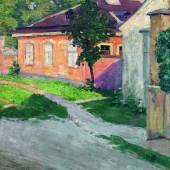 Egon Schiele (1890 - 1918) Haus in Hütteldorf, 1907, Auktion 28. November 2012, Schätzwert € 140.000 - 220.000 Fotonachweis: Dorotheum