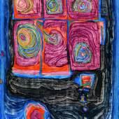 Friedensreich Hundertwasser (1928 - 2000) Globulant, 1956, Öl/Leinwand, 117x76 cm, erzielter Preis € 268.700 Fotonachweis: Dorotheum