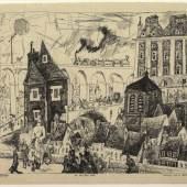 Lyonel Feininger On the Town Wall, 1911   Albertina, Wien
