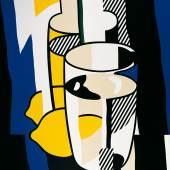 Roy Lichtenstein  Glas und Zitrone vor einem Spiegel, 1974 Albertina, Wien - Sammlung Batliner © The Estate of Roy Lichtenstein / © VBK, Wien 2009. Foto: © Fotostudio Heinz Preute, Vaduz
