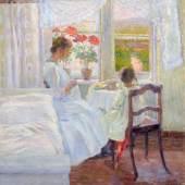 119   Postimpressionist, Bei der Handarbeit. Wohl um 1910. 3.200 €
