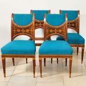 Vier elegante Salonstühle - Wien, um 1810