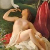 Franz Schrotzberg Leda mit dem Schwan, 1839 Öl auf Leinwand 128 x 99 cm Belvedere, Wien© Belvedere, Wien