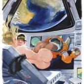 Copyright Playboy Autor Erich Sokol Beschreibung Well, what so you say, Commander - rady for reentry?, Playboy Magazine, Oktober 1998, Karikaturmuseum Krems, Sammlung des Landes Niederösterreich