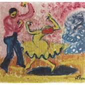 Auktion 496 - Lot 110 HERMANN MAX PECHSTEIN Tänzer, 1910 Ergebnis: € 1.250.000