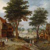 Jan Brueghel II (1601 - 1678) Belebte Dorflandschaft mit Bäumen, erzielter Preis € 317.500 Fotonachweis: Dorotheum