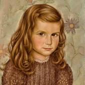 Christian Schad. 1894 Miesbach - 1982 Stuttgart. Portrait eines Mädchens. Öl/Hartfaserplatte. 40 x 33 cm. R  Ausrufpreis:18000 Euro