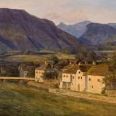 Ferdinand Georg Waldmüller Das rechte Ufer der Traun in Bad Ischl, 1834 Schätzpreis: 80.000 – 120.000 €