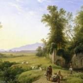 Franz Ludwig Catel (1778–1856), Die Grotte der Egeria, um 1835 Öl auf Leinwand, 40 x 62,5 cm, Hamburger Kunsthalle © Hamburger Kunsthalle/bpk Photo: Elke Walford