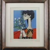 """Katalog-Nr. 344 Pablo Picasso (1881 - 1973) - Original Farblithographie auf Papier, """"Die Maler als Zeugen ihrer Zeit (Jaqueline)"""", 1956   • Kategorie: Graphik   • Limit: 6.500,00 EUR"""