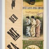 (Arthur Sullivan) Wien, Carltheater, 1887 Plakat des Gastspiels der D'Oily Carte Opera Company © Theatermuseum