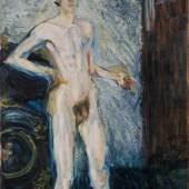 Richard Gerstl, Selbstakt mit Palette, 1908 © Leopold Museum, Wien, Inv. 651