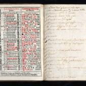 Schreibkalender, Jacob Christoff Wagner, Innsbruck 1678; TLMF  © TLM