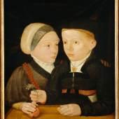 Jakob Seisenegger (zugeschrieben), Bildnis eines Geschwisterpaares, die sogenannten Fuggerkinder, 1540/41, Tempera und Öl auf Holz, Privatsammlung  © privat