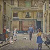 BALTHUS, PASSAGE DU COMMERCE-SAINT-ANDRÉ, 1952–1954 Öl auf Leinwand, 294 x 330 cm,  Privatsammlung © Balthus  Foto: Mark Niedermann