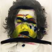 Arnulf Rainer Face Farces: Farbstreifen, 1972 Albertina, Wien
