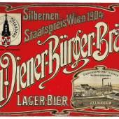 Wiener Bürger Bräu, geprägtes Blechschild, 52 x 36,5 cm, Österreich, um 1905/1910, Rufpreis € 500