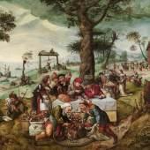 Frans Verbeeck (um 1510 - 1570) Der Narrenhandel, Öl auf Leinwand, 135 x 188 cm erzielter Preis € 3.035.000