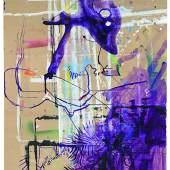 Sigmar Polke (1942-2010) Ohne Titel, 1986, Acryl, Gouache auf Karton, 199 x 135,5 cm erzielter Preis € 588.533
