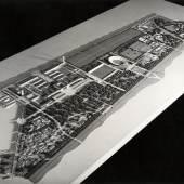 Alexander Popp, Hermann Kutschera, Anton Ubl, Entwurf Messe-, Ausstellungs- und Sportgelände im Prater, Wien, 1942 Copyright: Architekturzentrum Wien, Sammlung
